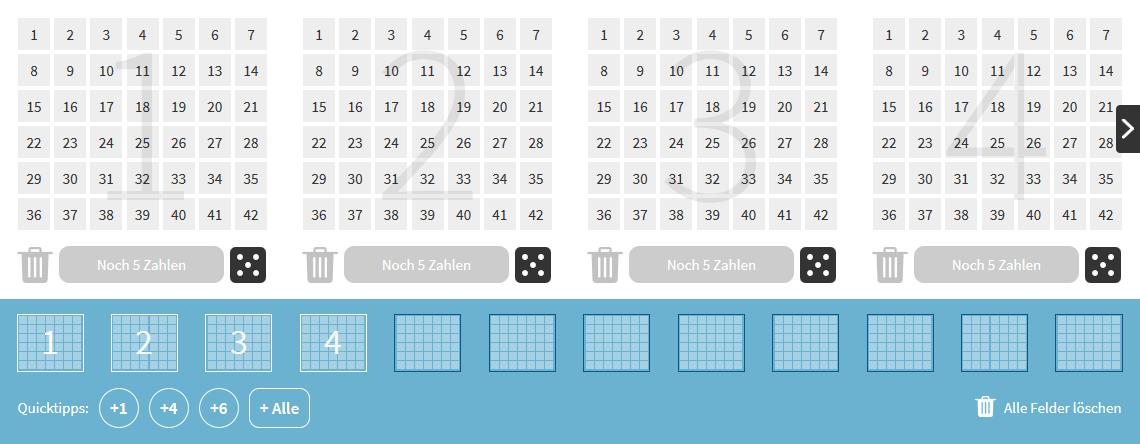 Ein Mini Lotto Spielschein bei Lottohelden.de